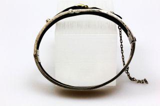 Jugendstil 800 Silber Armreif Bangle Art Niveau fliege schleife relief