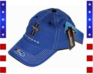 Ford Mustang Pony blue Basecap