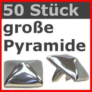 50 x große Pyramidennieten PIN Nieten (ws) Gothic Punk