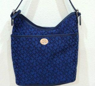Tommy Hilfiger Tasche Handtasche TH Logo Original Neu mit Etikett Blau
