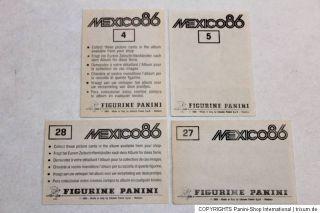 Panini WM WC MEXICO 86 1986 – KOMPLETTSATZ COMPLETE SET COMPLETO