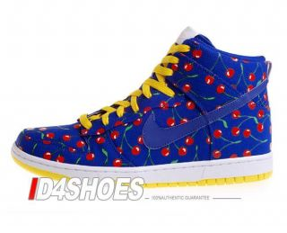 Nike Wmns Dunk High Skinny Concord Cherries Pack Shoes 344142441