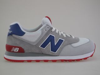 New Balance ML 574 CVY white/red/blue Gr. 45,5 us 11,5 Neu Schuhe 576