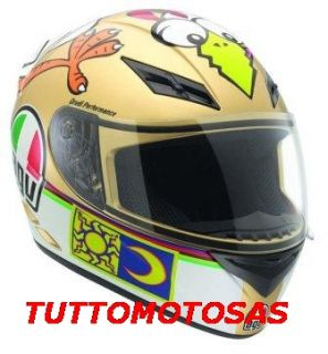 AGV CASCO NEW HELMET K3 VALENTINO ROSSI CHICKEN SIZE LARGE