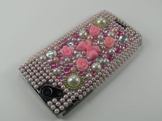 Sony Ericsson Xperia Arc Arc S Strass Hülle Cover Case Gold Rose
