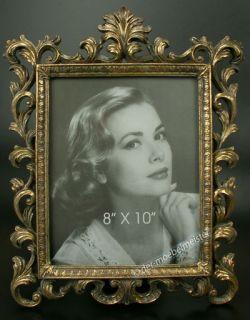 XXL Portrait Bilderrahmen Großer Fotorahmen Rahmen Gold Holz Antik