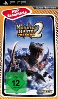 Monster Hunter Freedom 1 und 2 im Doppelpack für Sony PSP, NEU&OVP