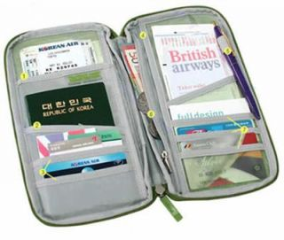 Travel Bag Pouch Passport ID Credit Card Wallet Cash Holder Organizer