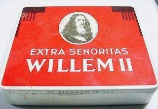 WILLEM II Extra Senoritas 20 Sigaren No. 574 Tin Box