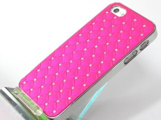 iPhone 5 STraSS BlinG Chrom LOOK COVER hard CASE HÜLLE tasche schale