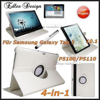 360° Schutz Hülle Samsung Galaxy Tab 2 10.1 Leder Tasche 4in1 Case