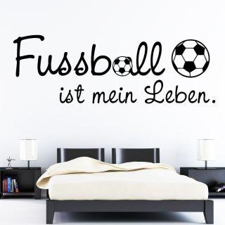 Wandtattoo Fussball ist mein Leben ab 20,90€ Fußball Fusball