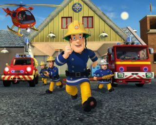 Walltastic® Kinderzimmer Kinder Tapete Room Art Feuerwehrmann Sam