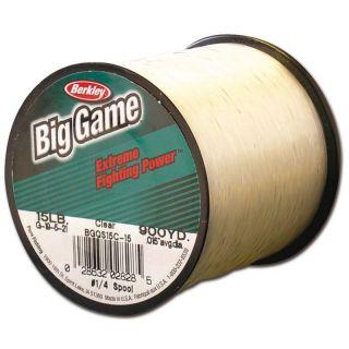 Berkley Big Game Clear monofil 0,46mm; 14,1kg; 590m