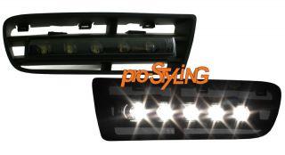 VW Golf 4 LED Tagfahrlicht schwarz mit Blende (NO)