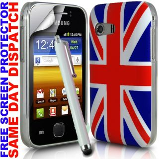 UNION JACK ENGLAND HARD BACK CASE SKIN COVER FOR SAMSUNG GALAXY Y