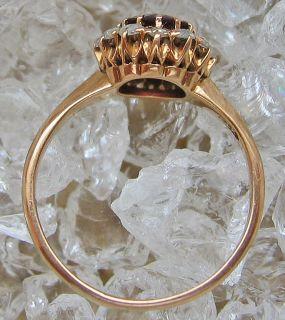Antikringe 14kt 585 Gold Ring Diamant Ring Amethyst Antikring