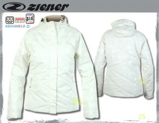 ZIENER Damen Skijacke TRAVEL Lady Gr.38 weiss
