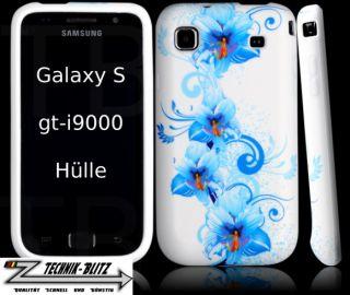 Schutz Hülle Weiß Samsung Galaxy S / s+ Hawaii Blau gt i9000 / i9001