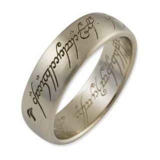 der Ringe Schmuck DER EINE RING DER MACHT aus 585 Weissgold