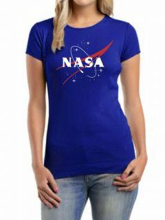 US NASA Blue Womens T shirt all sz S XXL Apolo 13