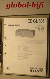 SONY CDX U606 Compact Disc Changer   Service Manual (internS2)
