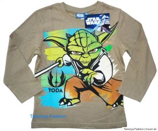 Star Wars the Clone Wars Langarmshirt Shirt Gr.104~110~116~128~140 Neu