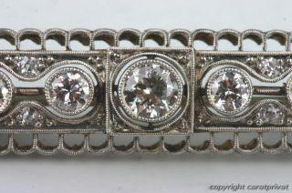 Diamant Brosche Art Deco Weißgold mit Platin Handarbeit