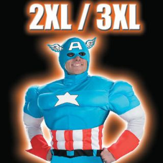 FANCY DRESS COSTUME CAPTAIN AMERICA 48 52 CHEST XXL