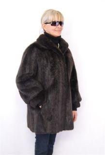 F593 Nutria Jacke Pelz Pelzjacke nutria fur jacket bæverrotte pels