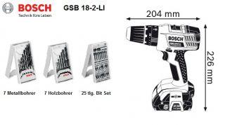 Bosch Akkuschlagbohrschrauber GSB 18 2 Li Akku Schlag Bohrschrauber
