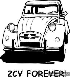 2CV  Aufkleber   Autoaufkleber  Neu Ente
