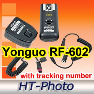 Yongnuo RF 602 RF602 with C1 Shutter Cable Wireless Remote Flash
