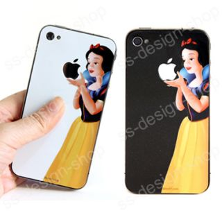 Snow White Decal Vinyl Sticker Humor Skin Protector for Apple iPhone 4