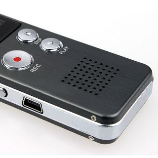 Stahl 4GB Digital Voice Recorder 650Hr Diktiergerät MP3 Player Akku