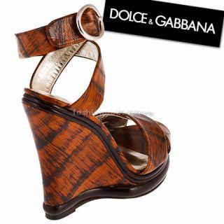 Dolce&Gabbana 605 Damen Schuhe Pumps shoes braun Leder