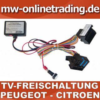 TV Freischaltung für PEUGEOT CITROEN mit RT3 & RT4