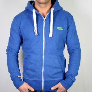 Superdry Orange Label Zip Hoodie XL Blau Kapuzenpullover Pullover