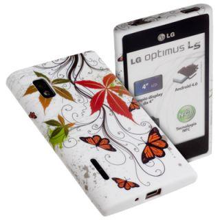 Joy TPU Case f LG Optimus L5 E610 Tasche Silikon Butterfly Design