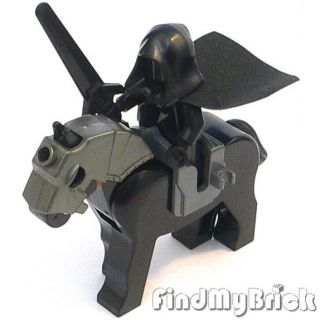 C616 Lego Castle Knight Nazgul Custom Minifigure with Horse NEW   lotr