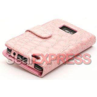 Leder Tasche für Samsung Galaxy i9100 S2 Krokodil Case Cover Schutz