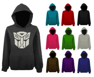 Mens Transformers Autobot Face Robot Logo Pullover Hoodie NEW XS XXL