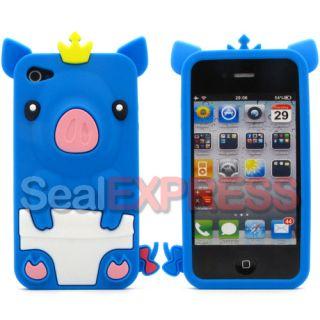 Apple iPhone 4 4S 4G Lieb Schwein Schutz Hülle CaseSilikon Skin Cover
