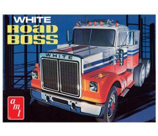 White Road Boss Truck AMT Auto Modell Kit 125, AMT648