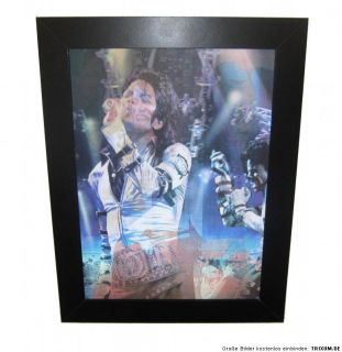 MEGA 3D Bild von Michael Jackson MJ JACKSON 3 Dimensional BAD Billie