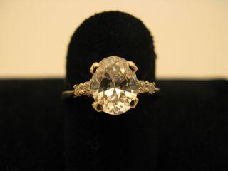 R632 585er 14kt Gelbgold Gold Ring mit schönen großen großer