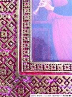 Bilderrahmen Unikat handgefertigt orientalisch rot gold