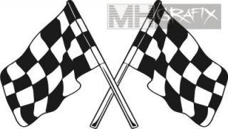 Aufkleber Rennflagge Fahne Sticker +++ 45cm