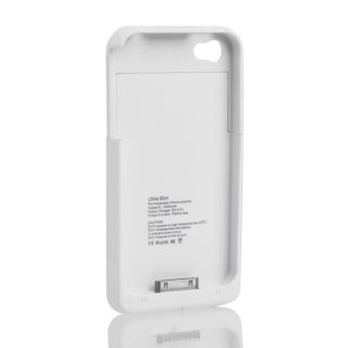 1900mAh External Backup Battery Charger Protect Case Cover For iPhone4