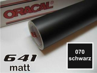 Plotterfolie Oracal 641 070 schwarz MATT Klebefolie Möbelfolie 63cm